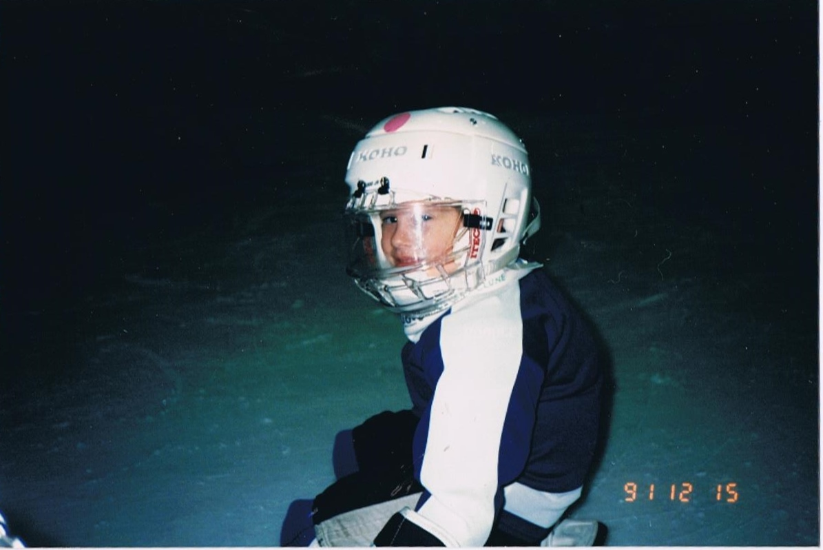 Rich in his first year of skating at Ted Reeve