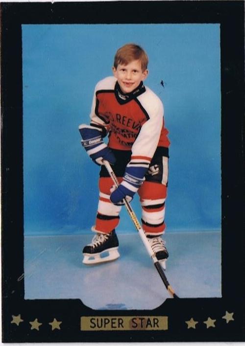 Rich's first year hockey card.